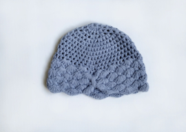 Knitted blue turban