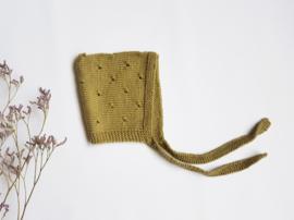 Handmade - green knitted hat