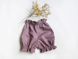 Lilac vintage flowers bloomers - Handmade