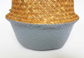 Wicker basket - Grey - ø 25 cm