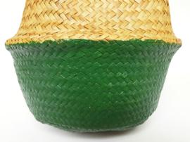 Wicker basket - Green - ø 25 cm