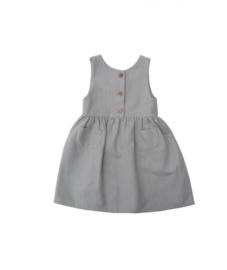Constanze vestido – algodón gris tweed