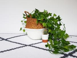 Wicker basket - White - ø 25 cm