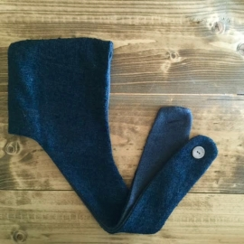 Navy blue wool hat scarf