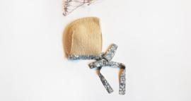 Handmade - Beige Knitted Bonnet