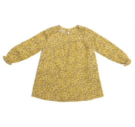 CAMILLE Dress - Mustard flowers