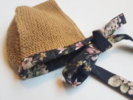 Handmade - Camel Knitted Bonnet