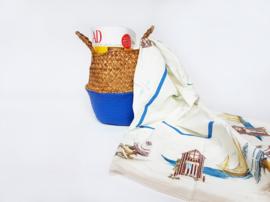 Wicker basket - Blue - ø 25 cm
