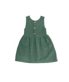 Constanze dress – musgo corduroy