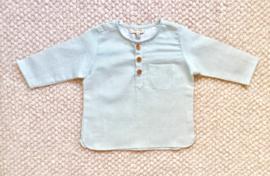 Freddy shirt - Green linen stripes