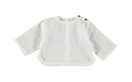 Camiseta con botones laterales - blanca