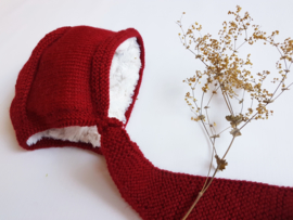 Hand knitted Hooded-Scarf - 027