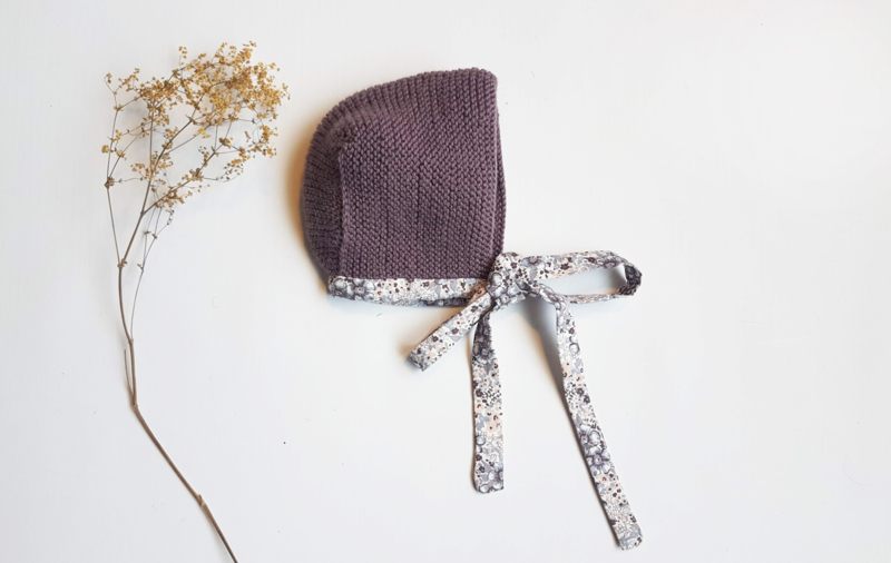 Handcrafted - Lilac Knitted Bonnet