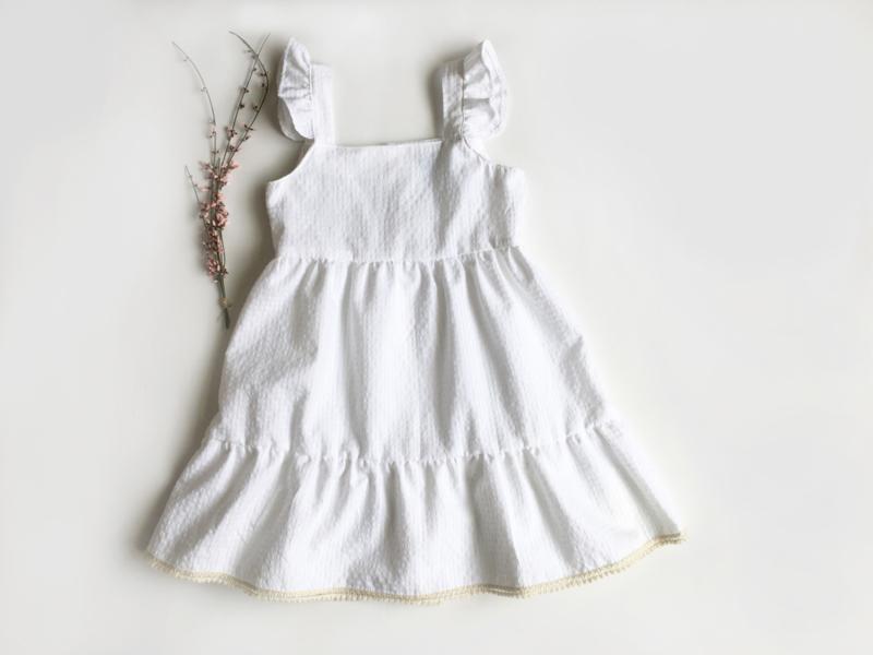 White vichy dress