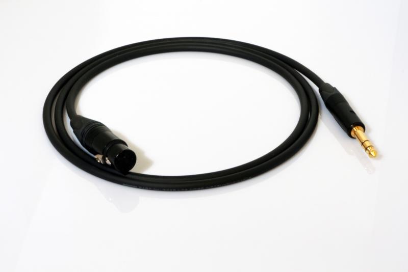 Mogami XLR female - Jack TRS gebalanceerde interlink vanaf 1 m