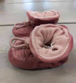 Melton Slofjes dark rose velvet