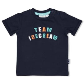 "Feetje t-shirt marine ""Team Icecream"""