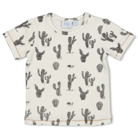 "Feetje t-shirt offwhite aop ""Looking Sharp"""