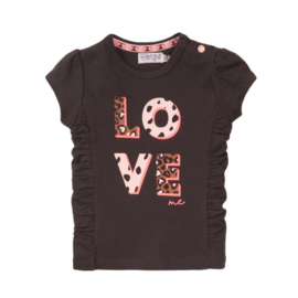 Dirkje t-shirt smokey grey love