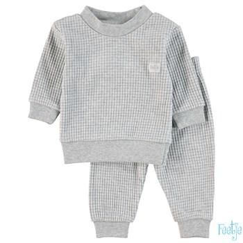 Feetje Wafel pyjama Grey Melange