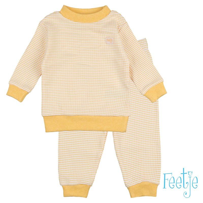 Feetje Wafel pyjama Yellow Ochre