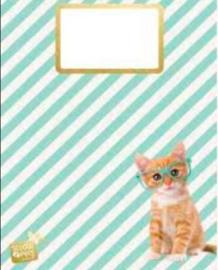 Studio Pets schrift A4 gelinieerd kat (5998)