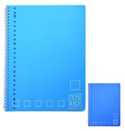 2x Collegeblok gelinieerd blauw (8857)