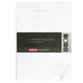 2x A4 schriftomslag vulling geruit 80g 160blz (3695)