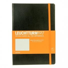 Leuchtturm dotted notebook 145x210 zwart