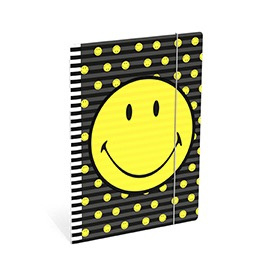 Elastomap A4 Smiley World zwart (3757)