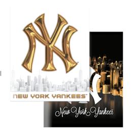 New York Yankees A5 schriften goud/zwart (3681)