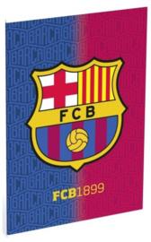 FC Barcelona A4 schrift geruit FCB1899 (9032)