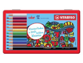 Stabilo color kleurpotloden 12st in blik (9556)