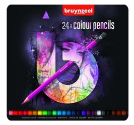 Bruynzeel Teens 24x kleurpotloden roze (2241)