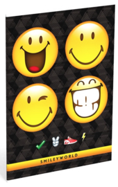 Smileyworld schrift A4 geruit (4x smiley)