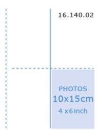 Multo fototas 23 rings 10 X 15cm transparant