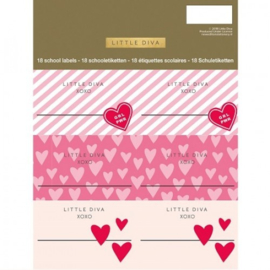 Little Diva etiketten roze (4381)