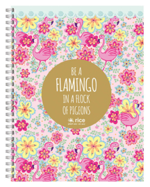 Rice flamingo collegeblok A4 (0308)