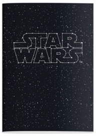 Star Wars A4 ruitjes schrift logo