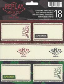 Replay girls etiketten zwart (3160)