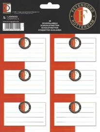 Feyenoord etiketten rood-wit (0419)