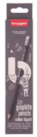 Bruynzeel HB potloden met gum 12st (1732)