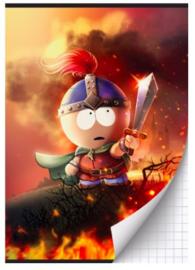 """South Park A4 schrift ruit """"zwaard"""""""