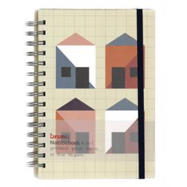 A5 notitieboek 4 in 1 spiraal (5603)