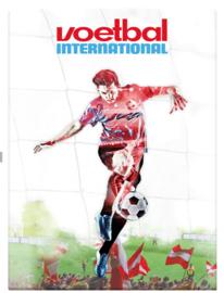 Voetbal international schrift A4 lijn (3185)
