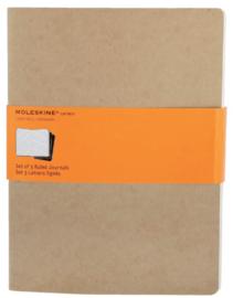 Moleskine Ruled journals 3x kraft XL schrift gelinieerd