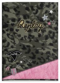 Replay girls A4 schrift gelinieerd luipaard (9069)