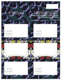Supertrash etiketten panterprint (6981)