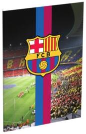 FC Barcelona A4 schrift geruit (4040)