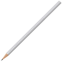 Faber Castell GRIP Sparkle grijs B potlood (wit) (3051)